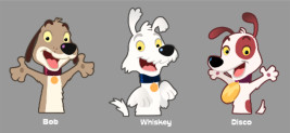 <font color=gray>Dog Character concepts for Smith Micro Avatar messaging app</font>
